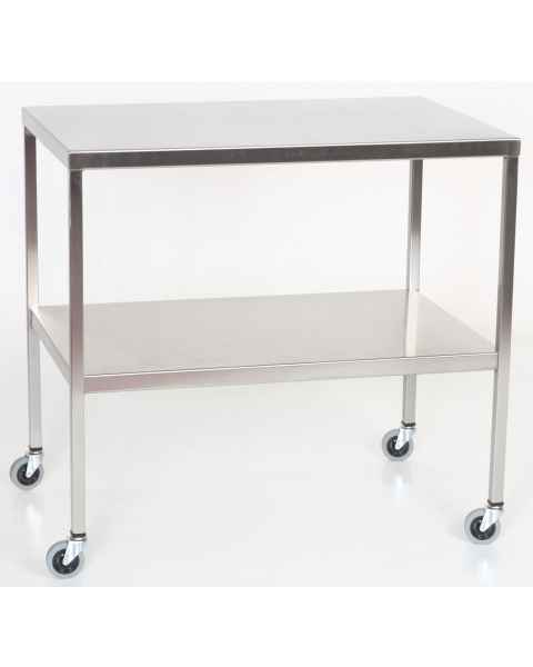 MCM Stainless Steel Instrument Table with Shelf