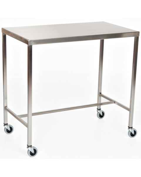 MCM Stainless Steel Instrument Table with H-Brace