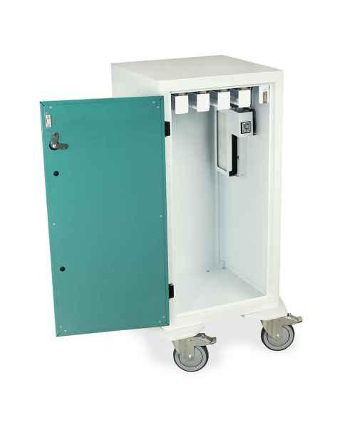 "Harloff Model DSC24S-DP Short Savary Dilator Drying Cart with HEPA Filter for Dilators up to 28""L - Key Lock"