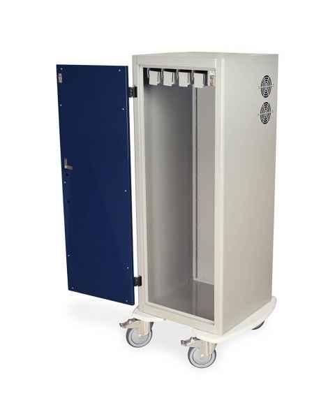 """Harloff Tall Savary Dilator Storage Cart for Dilators up to 39""""L - Key Lock"""