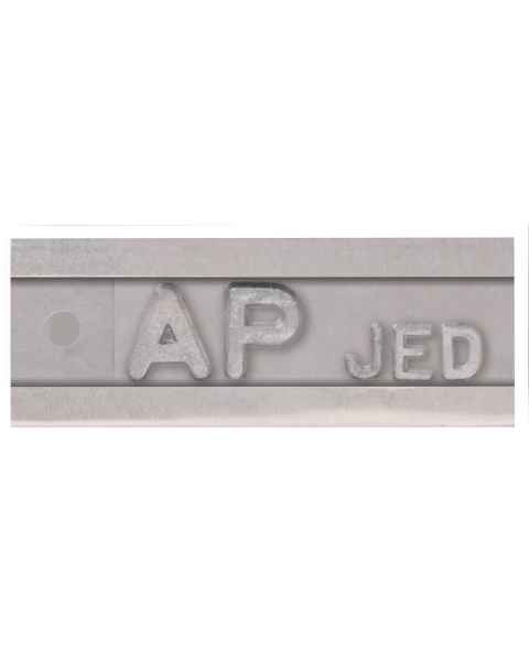 "Enclosed Marker - Letter Height 1/4"" - 1 to 5 Characters"