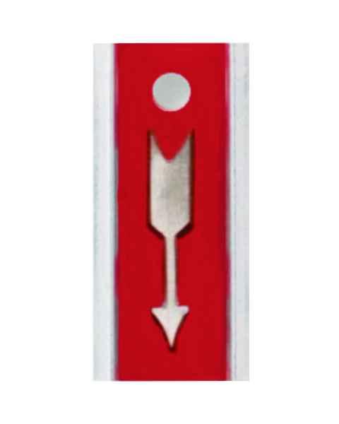 "Aluminum Marker With 1"" Arrow"