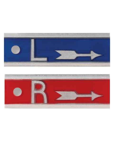"""Aluminum Markers - 1"""" Arrow - 1/2"""" L & R - No Initials"""