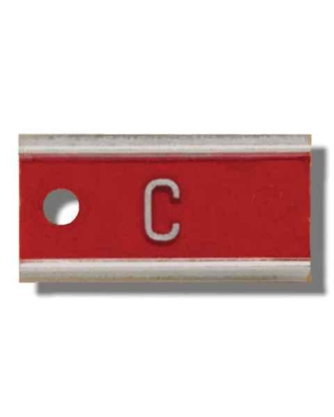 """Aluminum Marker - 3/8"""" - 1 Letter"""
