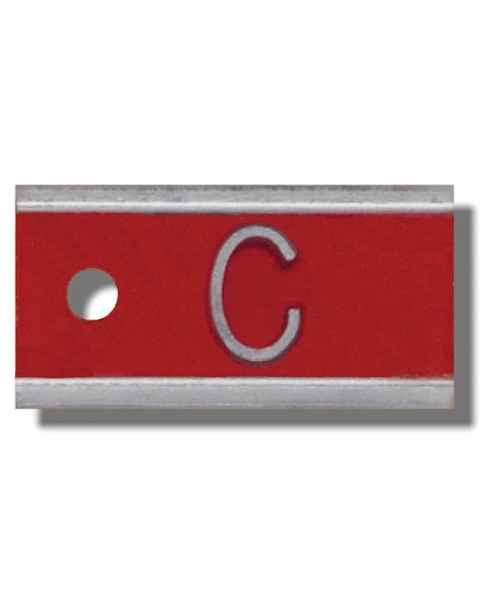 """Aluminum Marker - 1/2"""" - 1 Letter"""