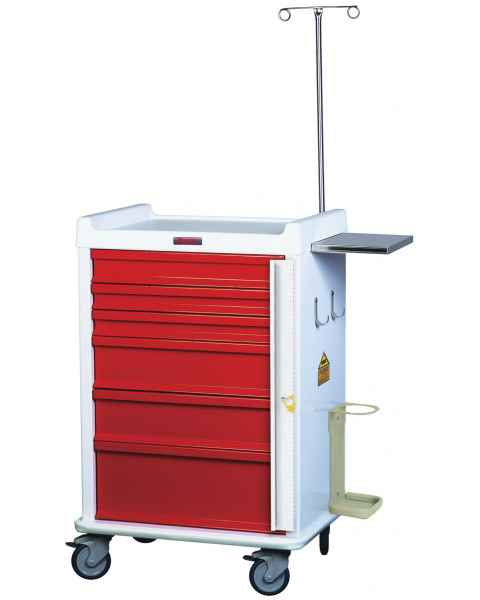 MRI Emergency Cart 6 Drawer - Specialty Package with Breakaway Lock
