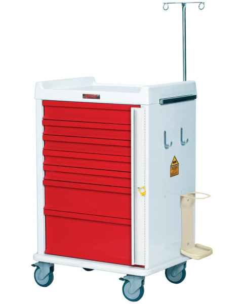 MRI Emergency Cart 7 Drawer - Specialty Package with Breakaway Lock
