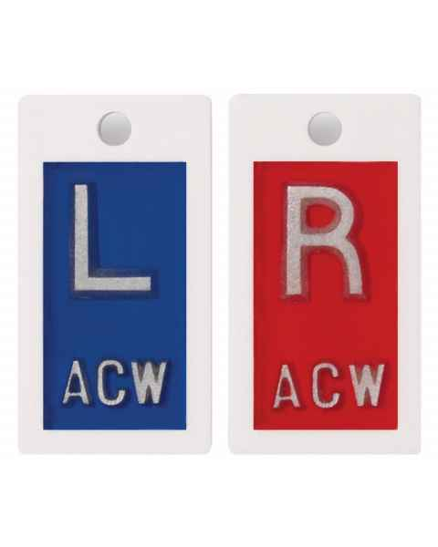 "Plastic Markers - 1/2"" ""L"" & ""R"" With Initials"