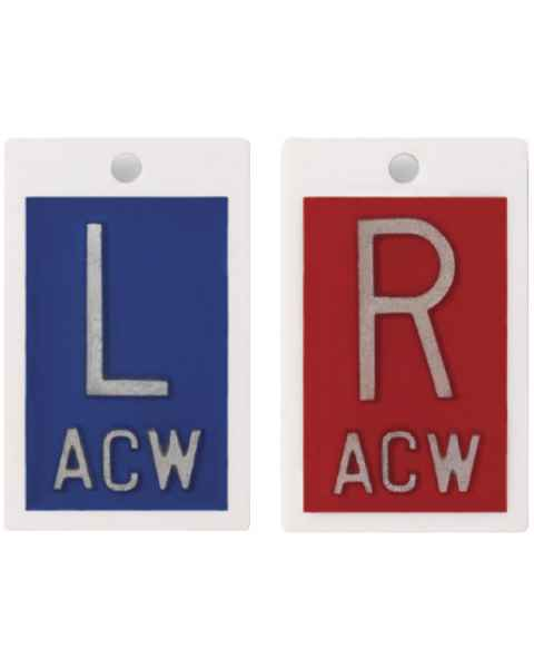 """Plastic Markers - 1"""" """"L"""" & """"R"""" With Initials"""