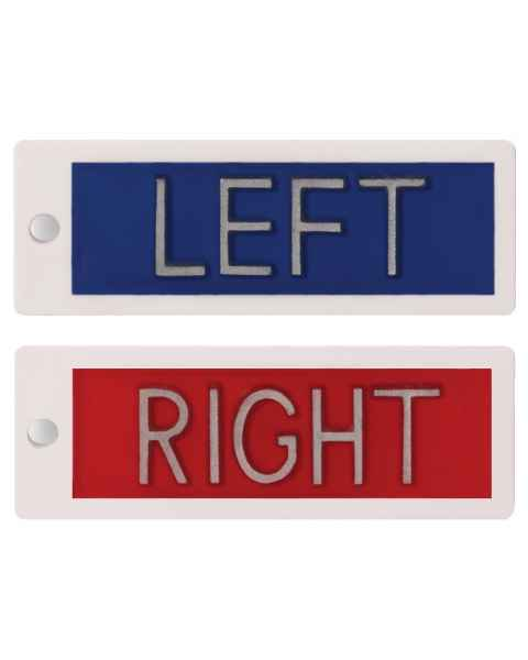 "Plastic Markers - 1/2"" Left & Right Without Initials"