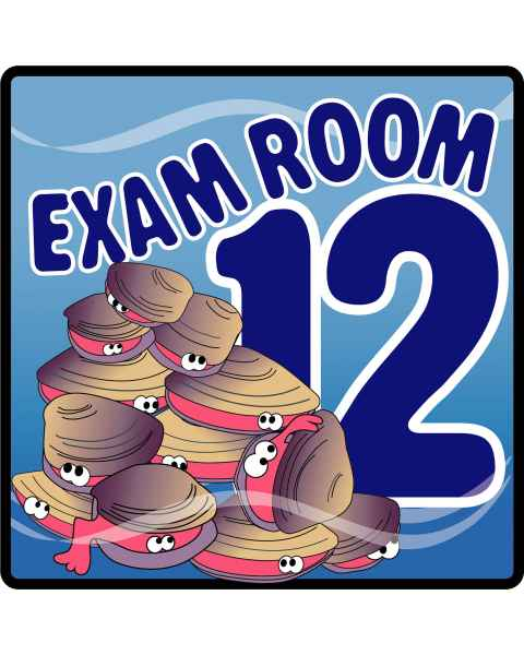 Clinton Ocean Series Exam Room 12 Sign