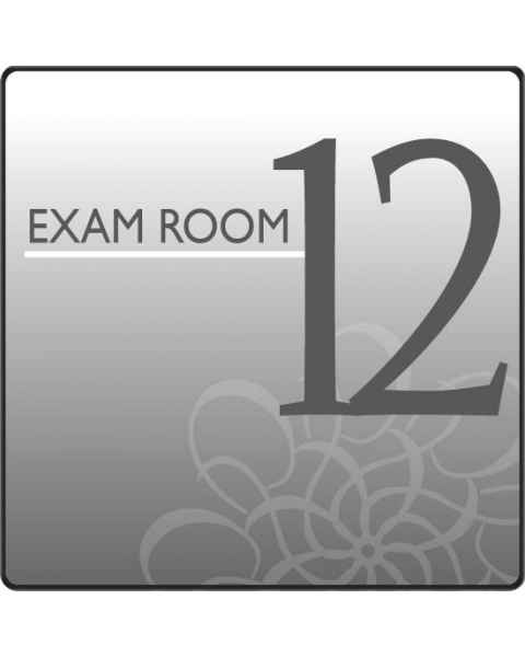 Clinton EX12-S Standard Exam Room Sign 12