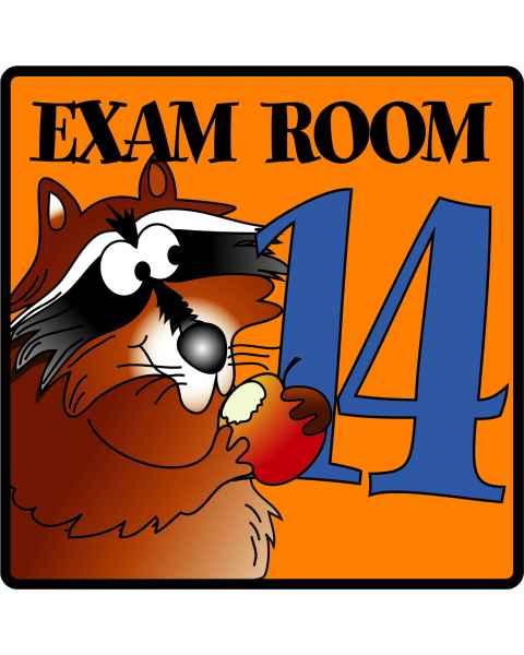 Clinton Exam Room 14 Sign