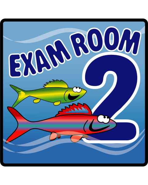Clinton Ocean Series Exam Room 2 Sign