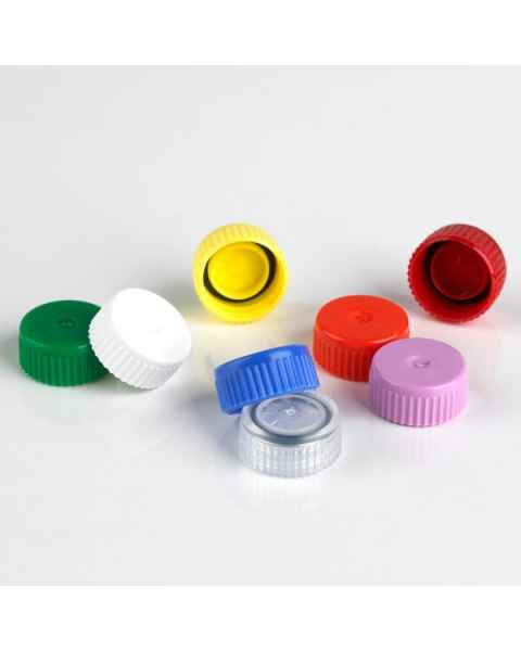 Screw Caps with O-Ring for Globe Scientific Microtubes