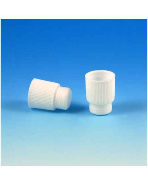 16mm Plug Cap - High Grip - Polyethylene (PE) - White