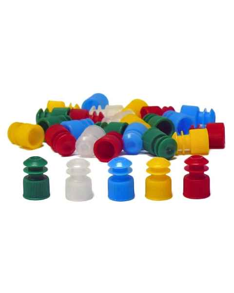 12mm Flanged Plug Cap - Polyethylene