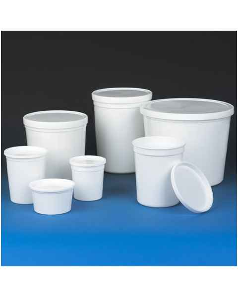 Economy Style Multi-Purpose Containers with Snap-On Lid - HDPE - White