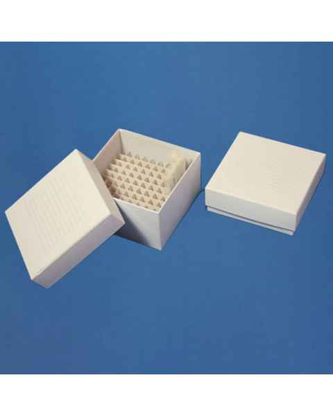 "Cardboard Freezer Storage Boxes for 2"" and 3"" Tall Vials"