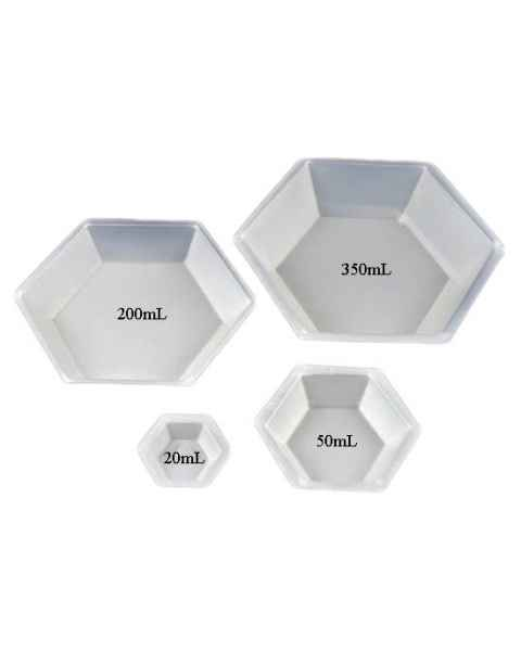 Plastic Hexagonal Antistatic Weighing Dishes - Polystyrene