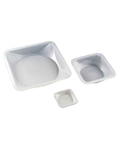 Plastic Square Antistatic Weighing Dishes - Polystyrene