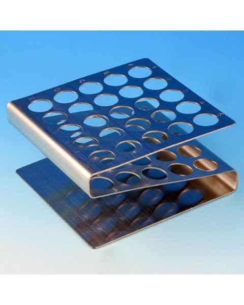 25-Place Stainless Steel Z Shape Tube Racks