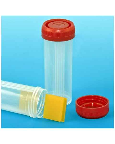 Polypropylene Slide Mailer for 4 Microscope Slides - With Red Screw Cap