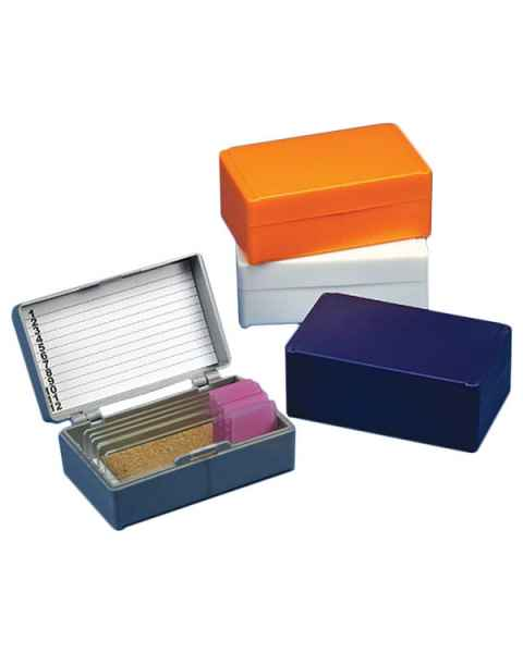 Slide Storage Box for 12 Microscope Slides - Cork Lined