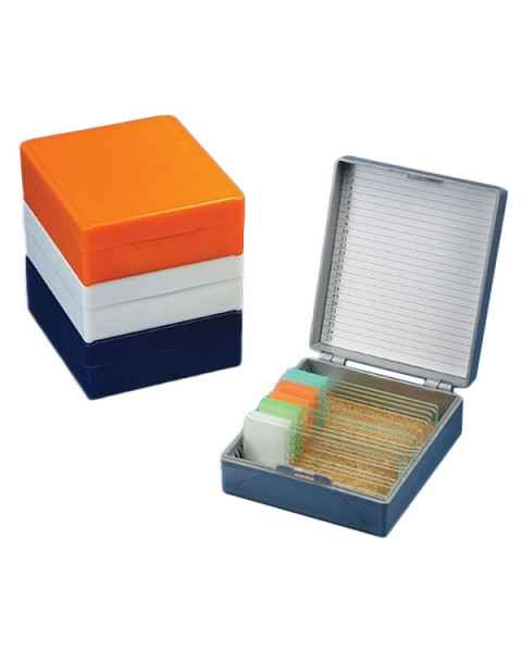 Slide Storage Box for 25 Microscope Slides - Cork Lined