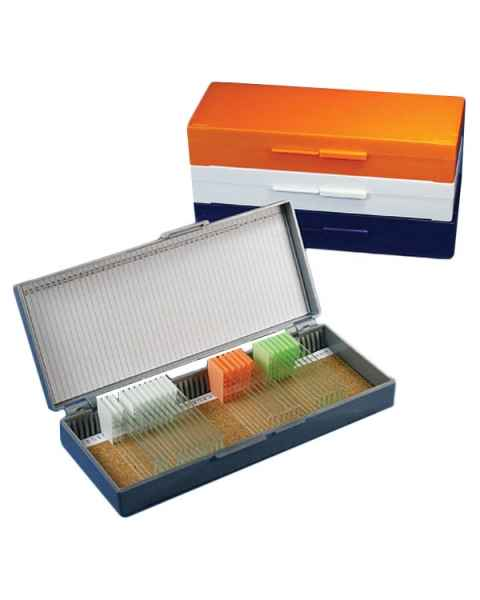 Slide Storage Box for 50 Microscope Slides - Cork Lined