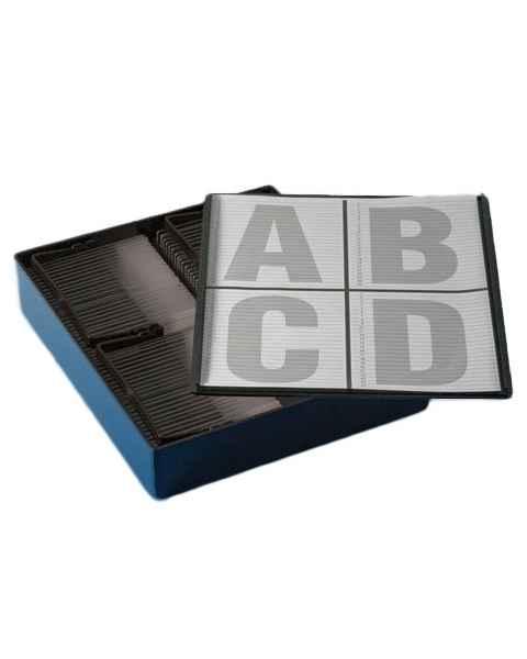 Slide Staining Storage Box - Black Polystyrene (PS)