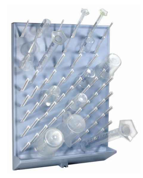 72-Place Drying Rack - High Impact Polystyrene - Removable Pegs