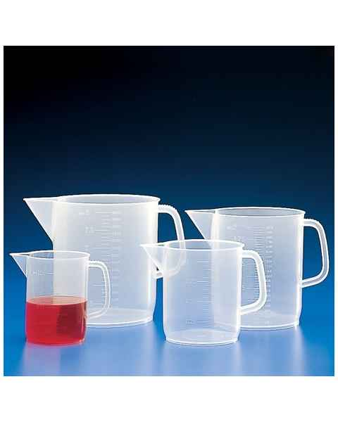 Beaker with Handle - Molded Graduations - Polypropylene