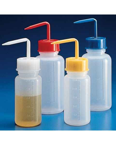 500mL Squeeze Wash Bottle with Screwcap - Wide Mouth - Polyethylene (PE)