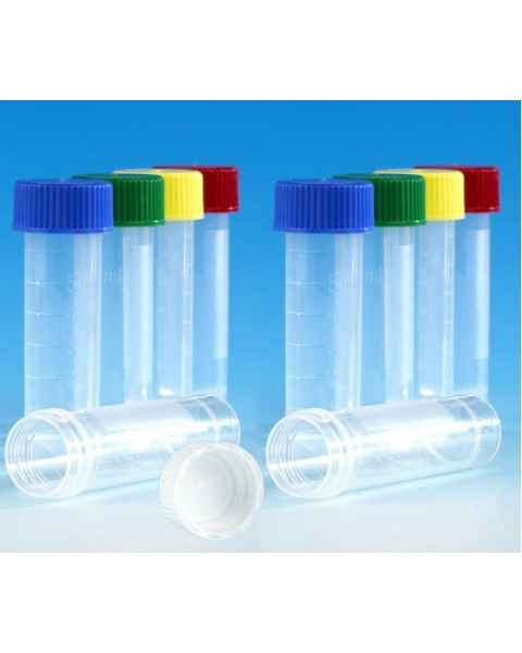 Transport Tubes 5mL - Self-Standing Conical Bottom with Screw Cap - Polypropylene