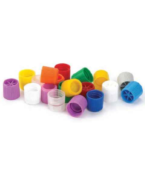 Screw Caps with Silicone Washer for Sample Tubes with External Threads - Polypropylene