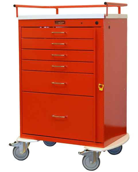 Classic Line Emergency Cart Tall Six Drawer - Standard Package