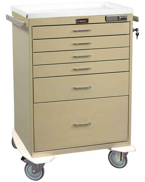 Classic Line Anesthesia Workstation Tall Six Drawer - Standard Package with Electronic Lock