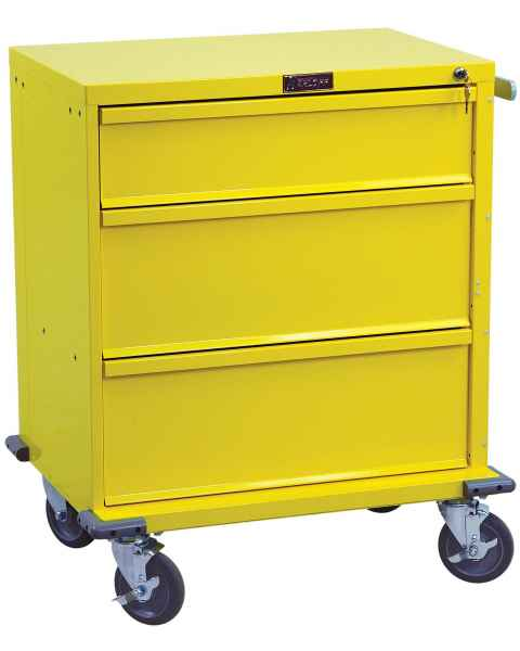 V-Series Infection Control/Isolation Cart - Short Three Drawer