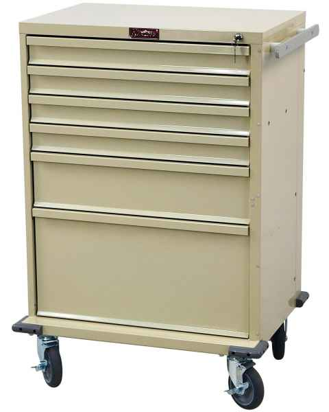 V-Series Treatment and Procedure Cart - Tall Six Drawer