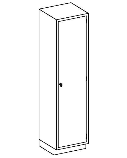 Stainless Steel High Cabinet with Single Solid Hinged Door