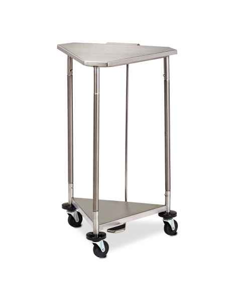 "Space Saver 18"" Stainless Steel Triangular Hamper With Stainless Steel Lid"