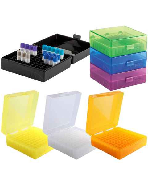 100-Well Hinged Microtube Storage Boxes