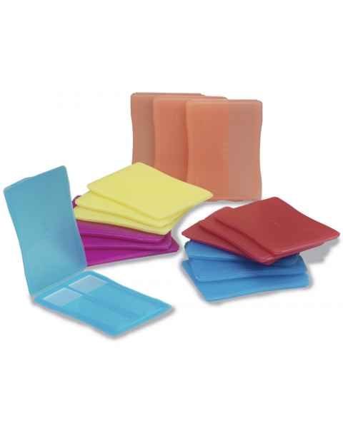Polypropylene 2-Place Slide Mailers - Assorted Colors