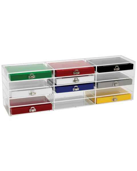 Storage Rack (15 Bins) for 50-Place & 100-Place Microscope Slide Boxes