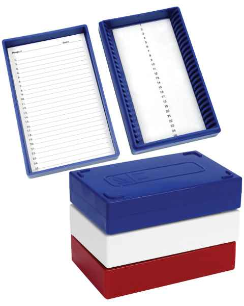 25-Place Foam-Lined Microscope Slide Boxes