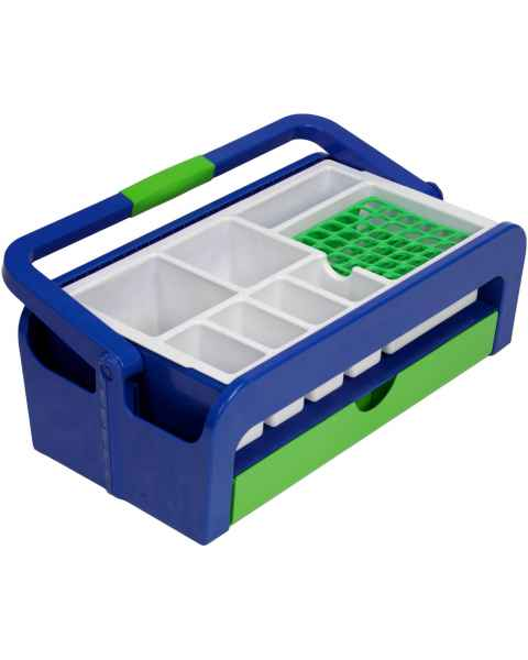 Droplet Phlebotomy Tray with 2 Inserts Style B and Rack for 36 x 16mm Test Tubes