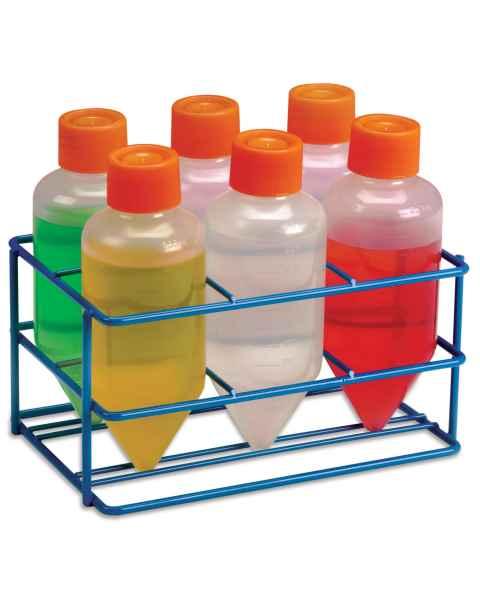 Centrifuge Bottle Rack for 250mL Tubes (6-Well) - Blue