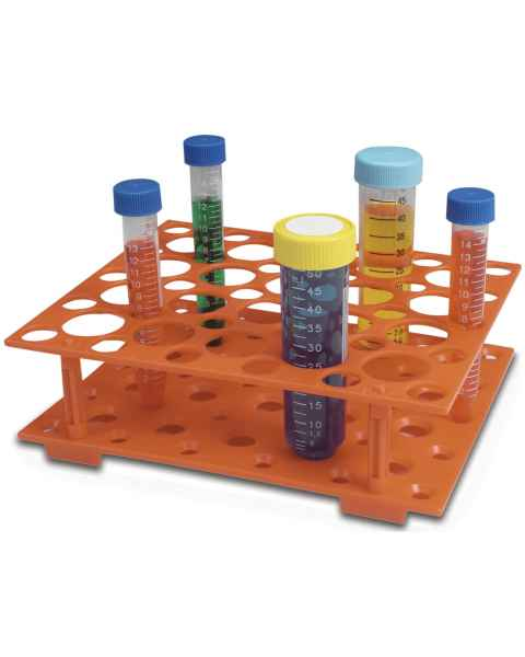 Snap-Together Conical Tube Rack For 15 and 50 mL Tubes - Orange