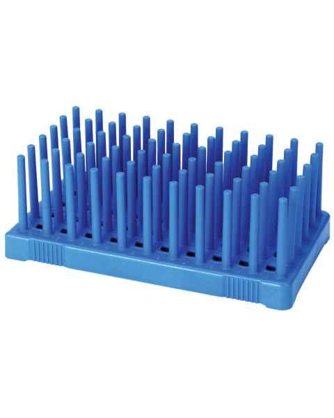 50-Well Fiberglass Reinforce Peg Rack for 10mL Tubes